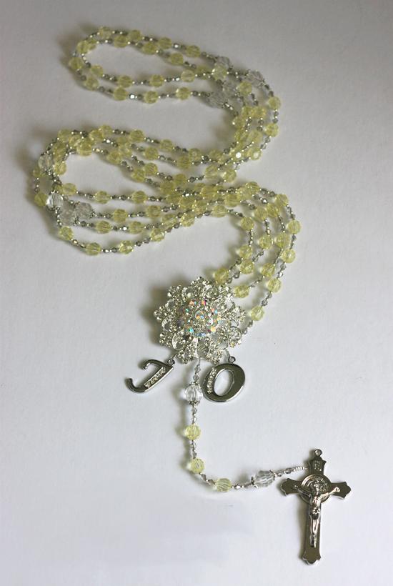 Customized Wedding Cord Acrylic Crystals